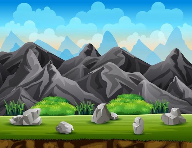 Uno sfondo naturale di montagna rocciosa