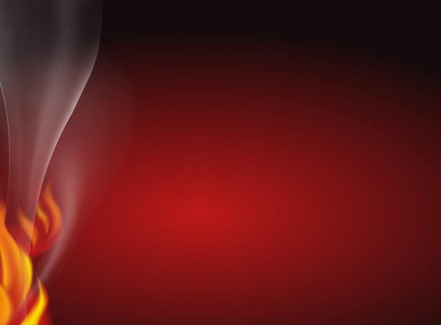 Uno sfondo rosso fuoco