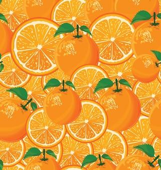 Uno sfondo senza soluzione di continuità di arance