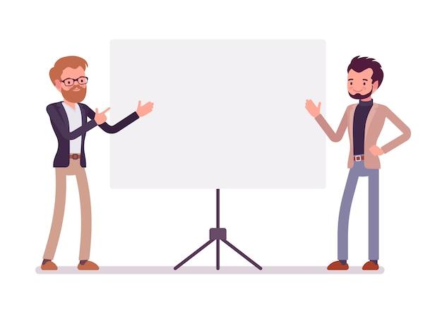 Uomini d'affari alla presentazione