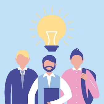 Uomini d'affari con idea