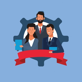 Uomini d'affari coworking