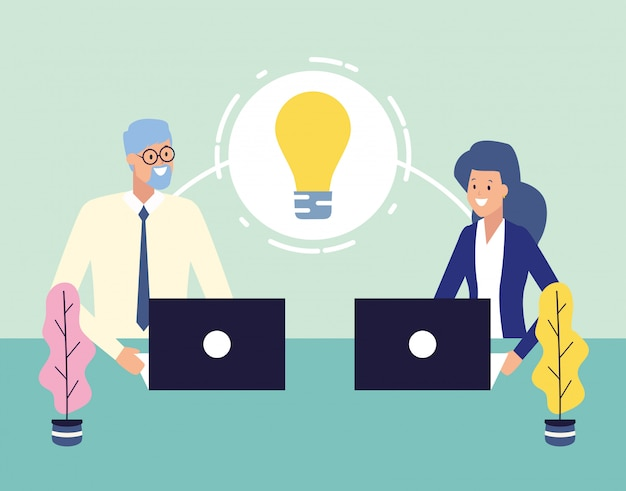 Uomini d'affari e concetto di lavoro