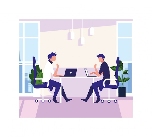 Uomini d'affari nell'incontro, nella pianificazione e nella ricerca di mercato