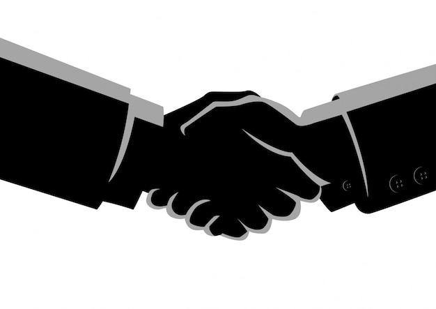 Uomini d'affari si stringono la mano