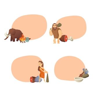 Uomini delle caverne dei cartoni animati