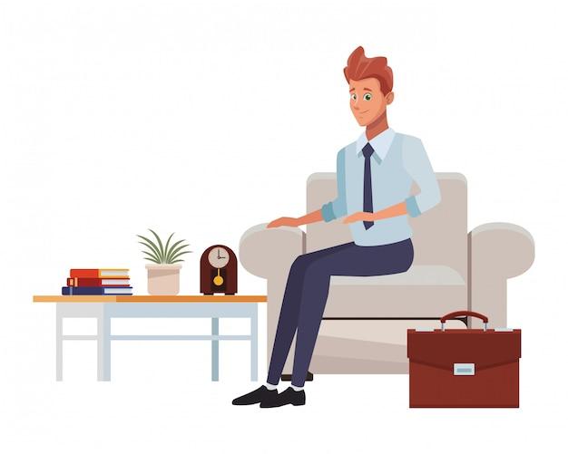 Uomo affari, ufficio