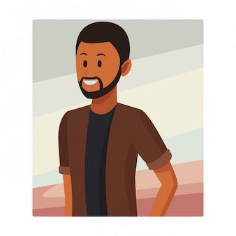 Uomo afroamericano con barba