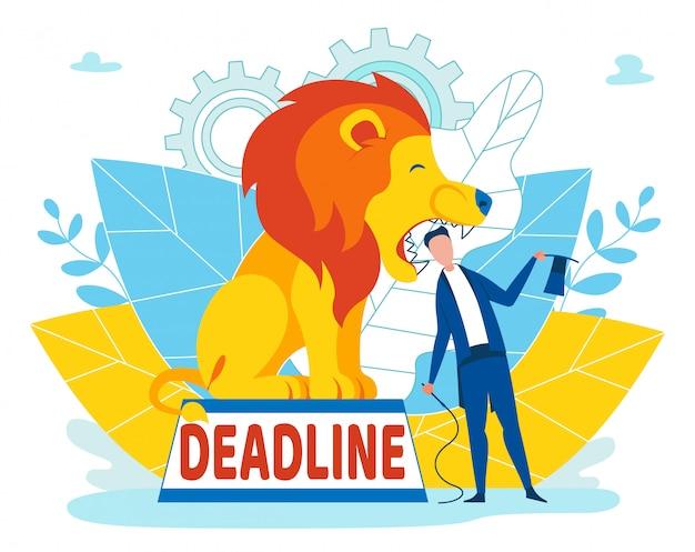 Uomo che prende rischi con deadline iscrizione del fumetto