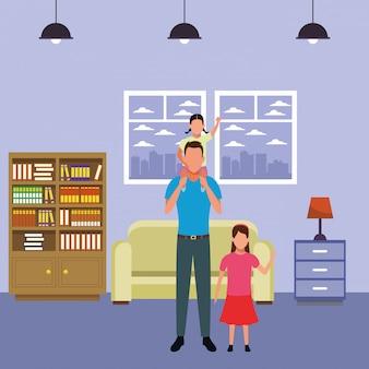 Uomo con bambini