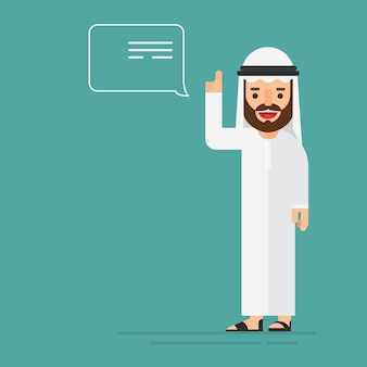 Uomo d'affari arabo dando consigli