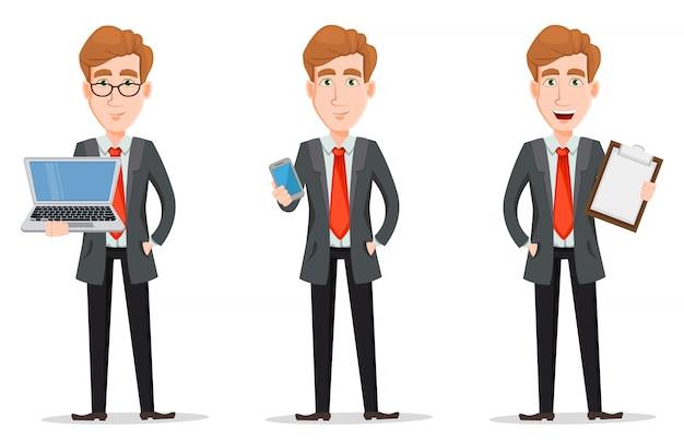 Uomo d'affari con i capelli biondi