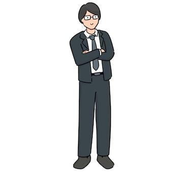 Uomo d'affari dei cartoni animati