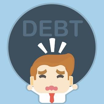 Uomo d'affari e debito