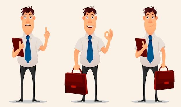 Uomo d'affari, impiegato. personaggio dei cartoni animati