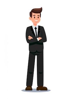Uomo d'affari nell'illustrazione convenzionale di vettore dei vestiti
