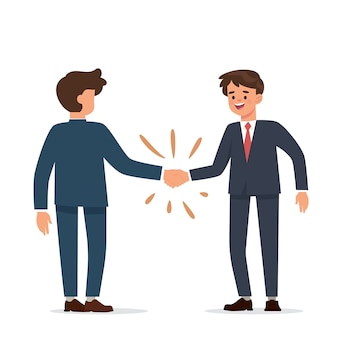 Uomo d'affari stringe la mano