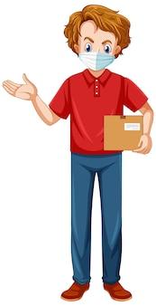 Uomo di consegna che indossa l'uniforme