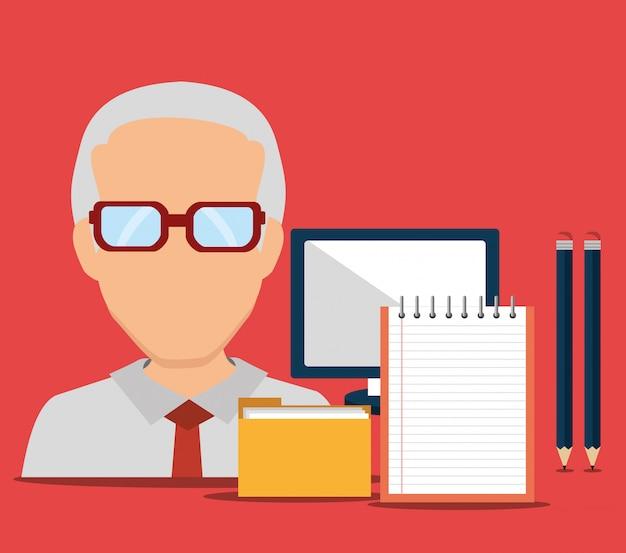 Uomo di consulenza aziendale
