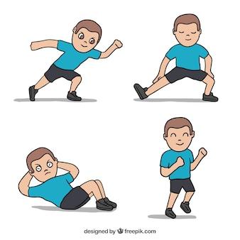 Uomo di sport facendo esercita