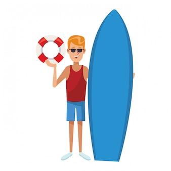 Uomo e surf