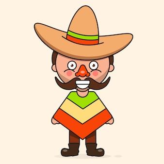 Uomo messicano dei cartoni animati