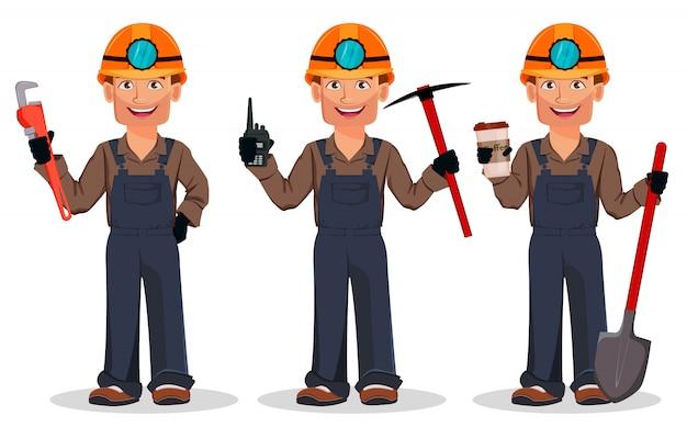 Uomo minatore, operaio minerario