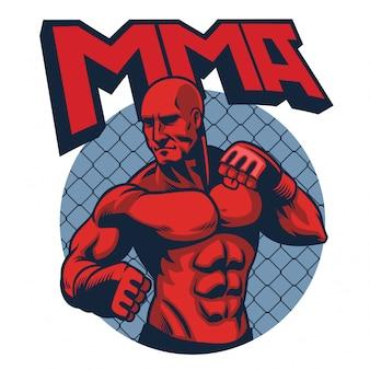 Uomo muscoloso combattente