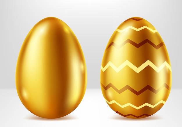 Uova d'oro di pasqua