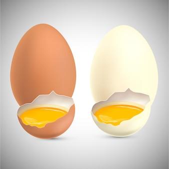 Uova di gallina con tuorlo d'uovo