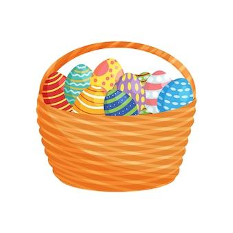 Uova di pasqua in un cesto