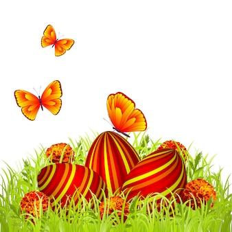 Uova di pasqua nel giardino