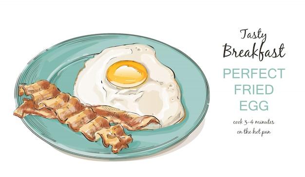 Uova fritte con pancetta