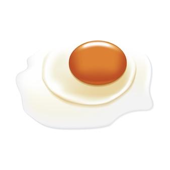 Uovo crudo con grande tuorlo.