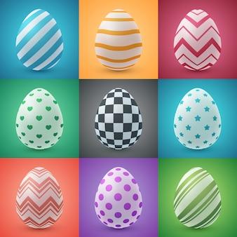 Uovo di cartone animato di pasqua felice