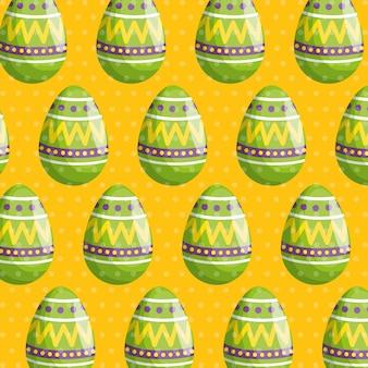 Uovo di pasqua con figure motivo decorativo