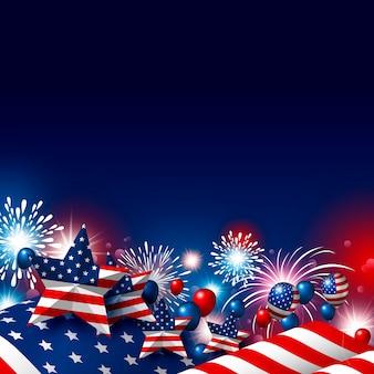 Usa 4 luglio felice giorno dell'indipendenza