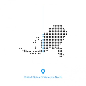 Usa doted map design vettoriale