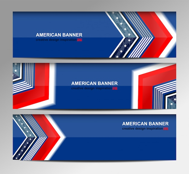 Usa flag banner background per independence day