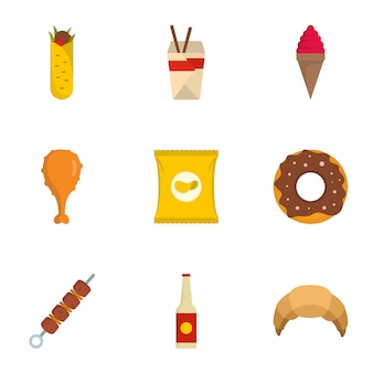 Usa le icone impostate, stile piatto