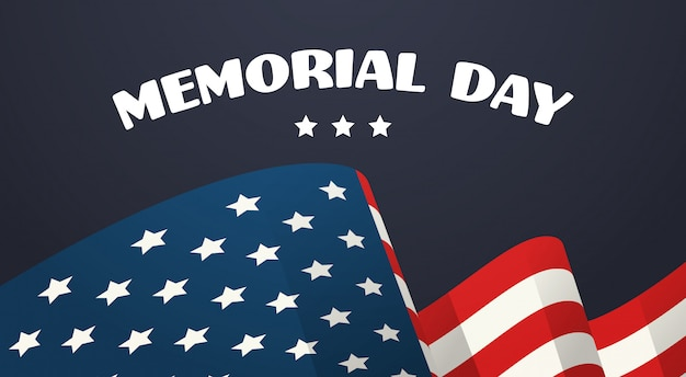 Usa sventolando la bandiera del memorial day background