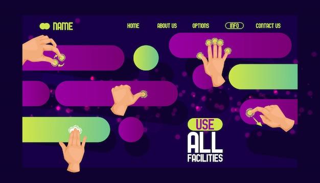 Utilizzare il design del sito web di tutte le strutture. interfaccia intuitiva