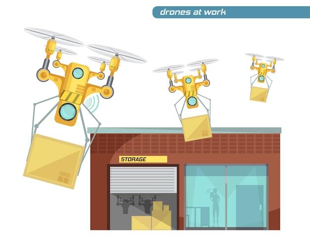 Utilizzo di droni radiocomandati per la consegna dei post