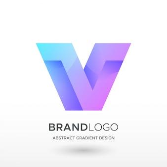 V logo sfumato