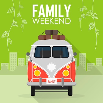 Vacanza in famiglia, auto con bagagli