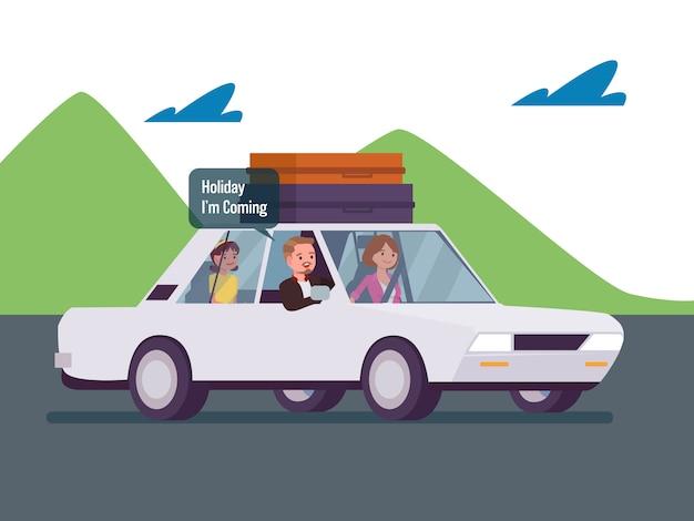 Vacanza in famiglia in auto