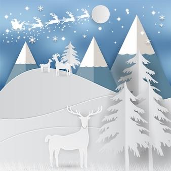 Vacanza invernale neve e montagna sfondo natale stagione