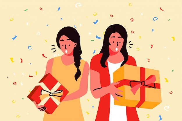 Vacanze, celebrazione, festa, concetto di regalo