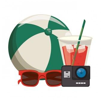Vacanze estive e cartoni animati di viaggio