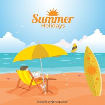 Vacanze estive illustrazione